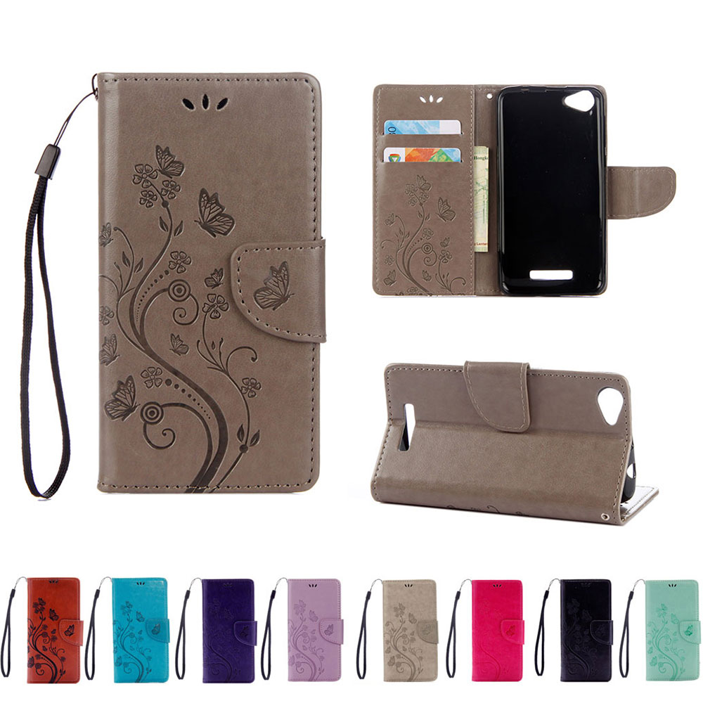 US $3.57 15% OFF For Coque Wiko Lenny 3 Max Case butterfly flower flip case For Wiko Lenny 3 Max 3G Lenny3 Max PU leather phone back cover Conque flip ...