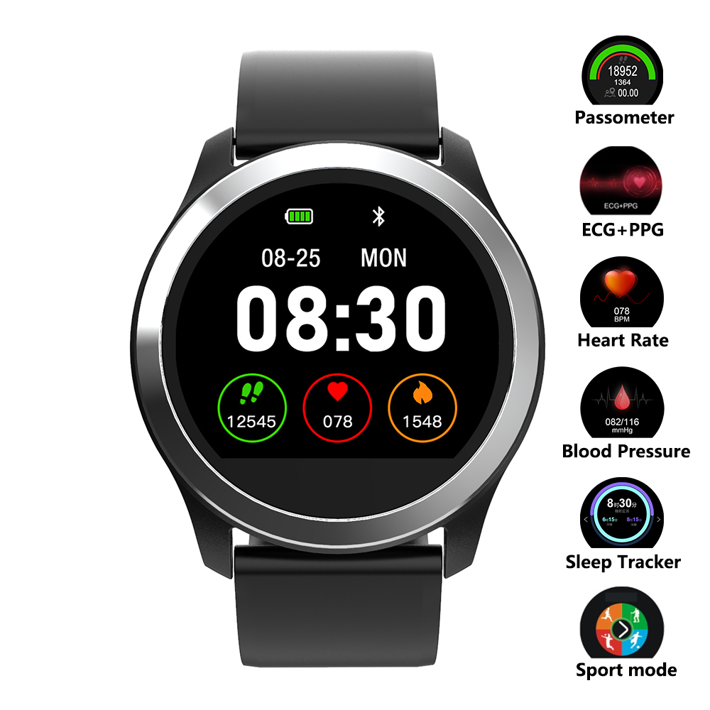 Smart Watch ECG PPG Fitness Watch Heart Rate Blood Pressure Watch Waterproof Sport Smartwatch for Android