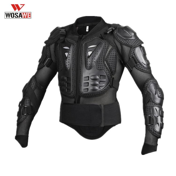 WOSAWE moto armure croisée moto rcycle dos épaule protecteur chemise équipement complet armure corporelle veste armadura moto poutre blindée