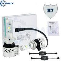 2x H7 72W 12000LM 6500K CREE XHP50 Car Led Headlight Daytime Running Lights White Fog Driving