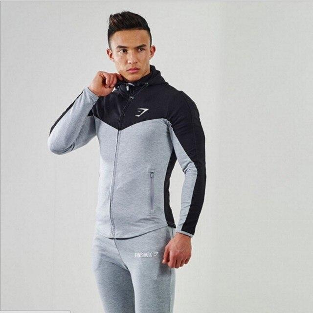 2016 Gymshark Hoodies camisetas  masculina hombre coat Bodybuilding and fitness hoodies Sweatshirts Muscle men's sportswear