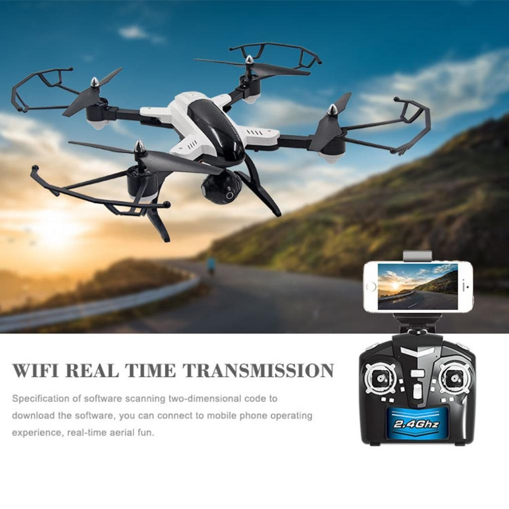 EBOYU(TM) SongYang X33 2.4Ghz 6-axis Altitude Hold 3D Roll WIFI HD Camera FPV Selfie Foldable RC Quadcopter Drone RTF hot aerial rc quadcopter hc 629 foldable selfie drone with wifi fpv wide angle camera altitude hold