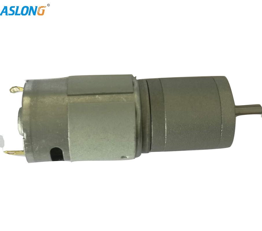 Decelerating motor With Metal Gear Box 385 dc motor with gear box center output shaft motor