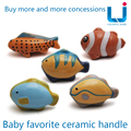 1pcs Cabinet Knobs And Handles,  Cartoon Fish Cabinet  Ceramics drawer-handle and Knobs for Children Room