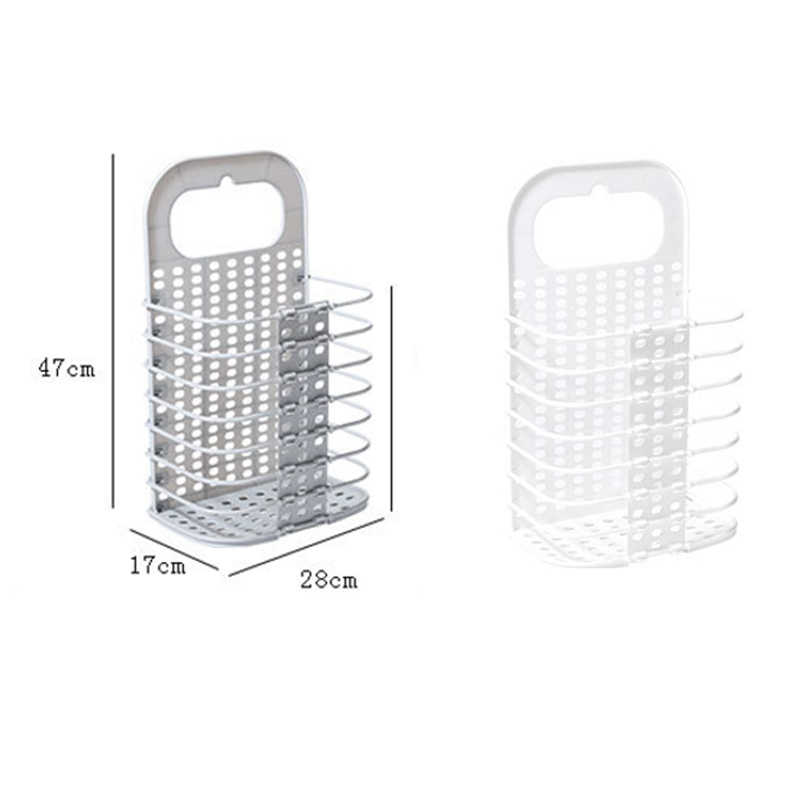 a3ee52929049 Laundry Basket Dirty Clothes Basket Bathroom Folding Laundry Hamper Wall  Hanging Plastic Large Clothes Storage Basket Organizers