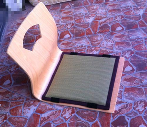 (4 pçs/lote) Zaisu Japonês Cadeira Sem Pernas Acabamento Natural Almofada Do Assento Tatami Meditação Encosto Cadeira Chão Mobiliário para Sentar