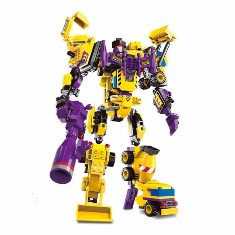 7 in 1 Mars Creator God of War Fight Robot Legoings Building Blocks Toy Kit DIY Educational Children Christmas Birthday Gifts