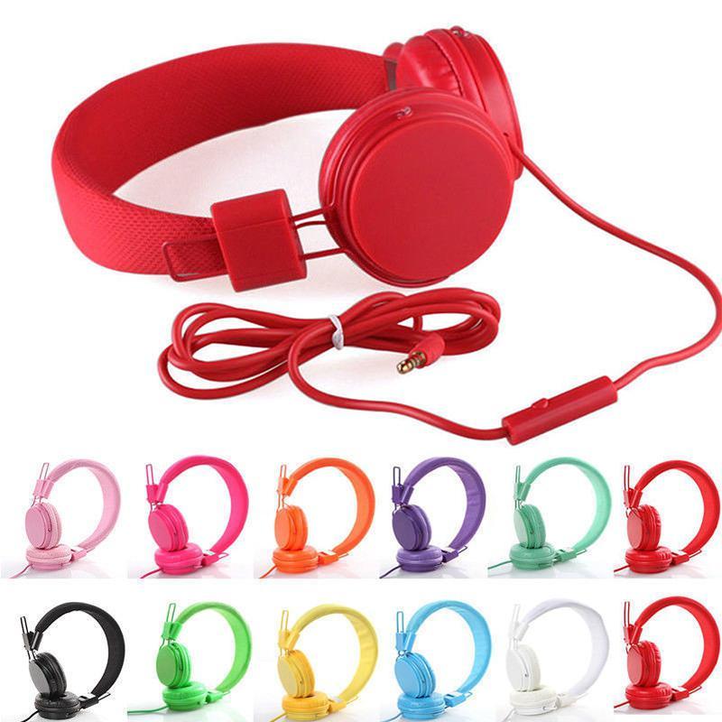 Детские проводные наушники, 7 типов, карамельные цвета, коаксиальный удлинитель, стильный ободок, наушники для iPad, планшетов, смартфонов, r30