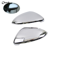 For VW Volkswagen Touran 2016 2017 ABS Chrome Rearview Mirror Cover Trim Car accessories 2pcs