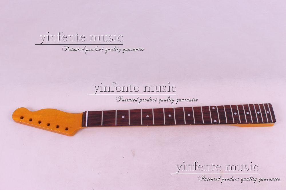 one pcs yellow 21 fret electric guitar neck high quality maple with rosewood fingerboard custom shop tl electric guitar classical tele 53 relics yellow milk color relic by hands high quality limited issue signature
