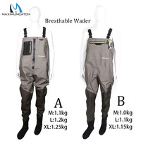 Maximumcatch Outdoor Stocking Foot Light Weight Breathable Fly Fishing Wader Waterproof Wading Pants