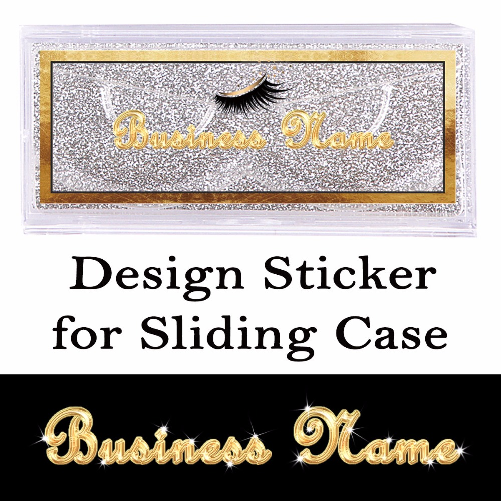 Design and Print Stickers for Sliding Case Rectangle Clear Sticker on the Front of Cover or