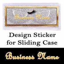Дизайн и печать наклейки s для раздвижной чехол прямоугольная прозрачная наклейка на передней части крышки или круглая наклейка сбоку крышки
