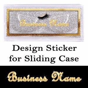 Image 1 - Autocollants transparents Design et imprimés pour étui coulissant, autocollants clairs rectangulaires sur le dessus de la couverture