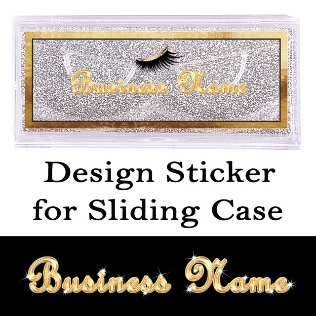 Design and Print Transparent Stickers for Sliding Case Rectangle Clear Sticker on the Top of Cover