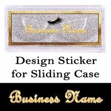 Zaprojektuj i wydrukuj przezroczyste naklejki na przesuwaną kopertę prostokątna czytelna naklejka na górnej części okładki