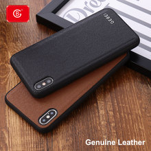 Brand Luxury Ultra thin 360 Shockproof Case For iPhone 11 Pro X Xs Max XR 7 8 Plus Phone Genuine Leather Protective Back Cases