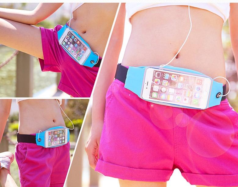 Gym wasserdichte taille clip handy case touchscreen taschen für leagoo t10, m5...