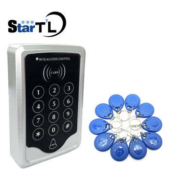 Darmowa wysyłka Rfid kontroli dostępu naciśnij klawiatura System RFID drzwi kontroli dostępu kontroler zamka drzwi blokada drzwi i otwieracz do butelek tanie i dobre opinie ST03 stteypco Door Access Control 1000 karty użytkownika ID card Card Password 120*78*22mm