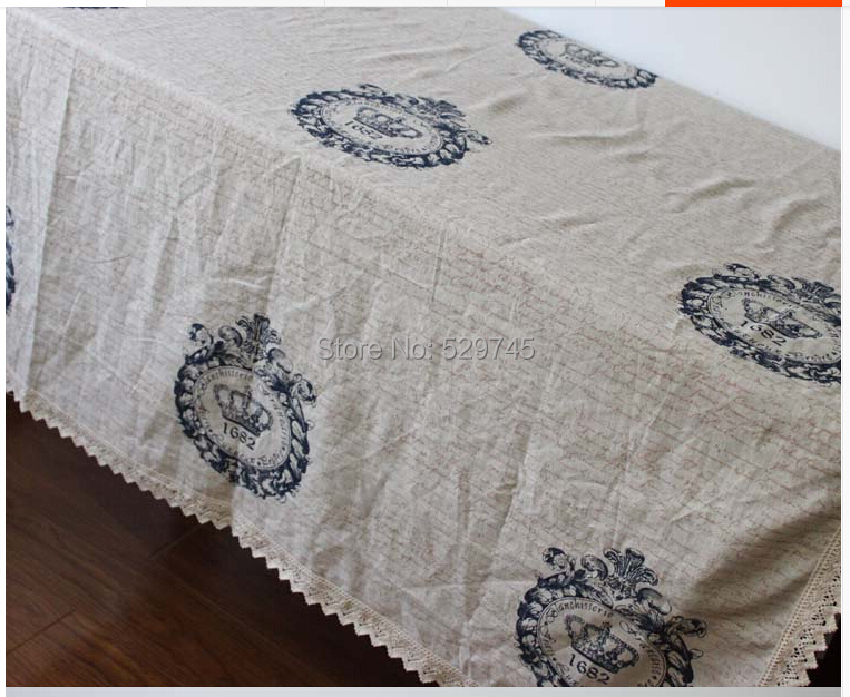 Free Shipping Cotton Square Tablecloth Household Cloth Retro Furniture Cover Home Textile China
