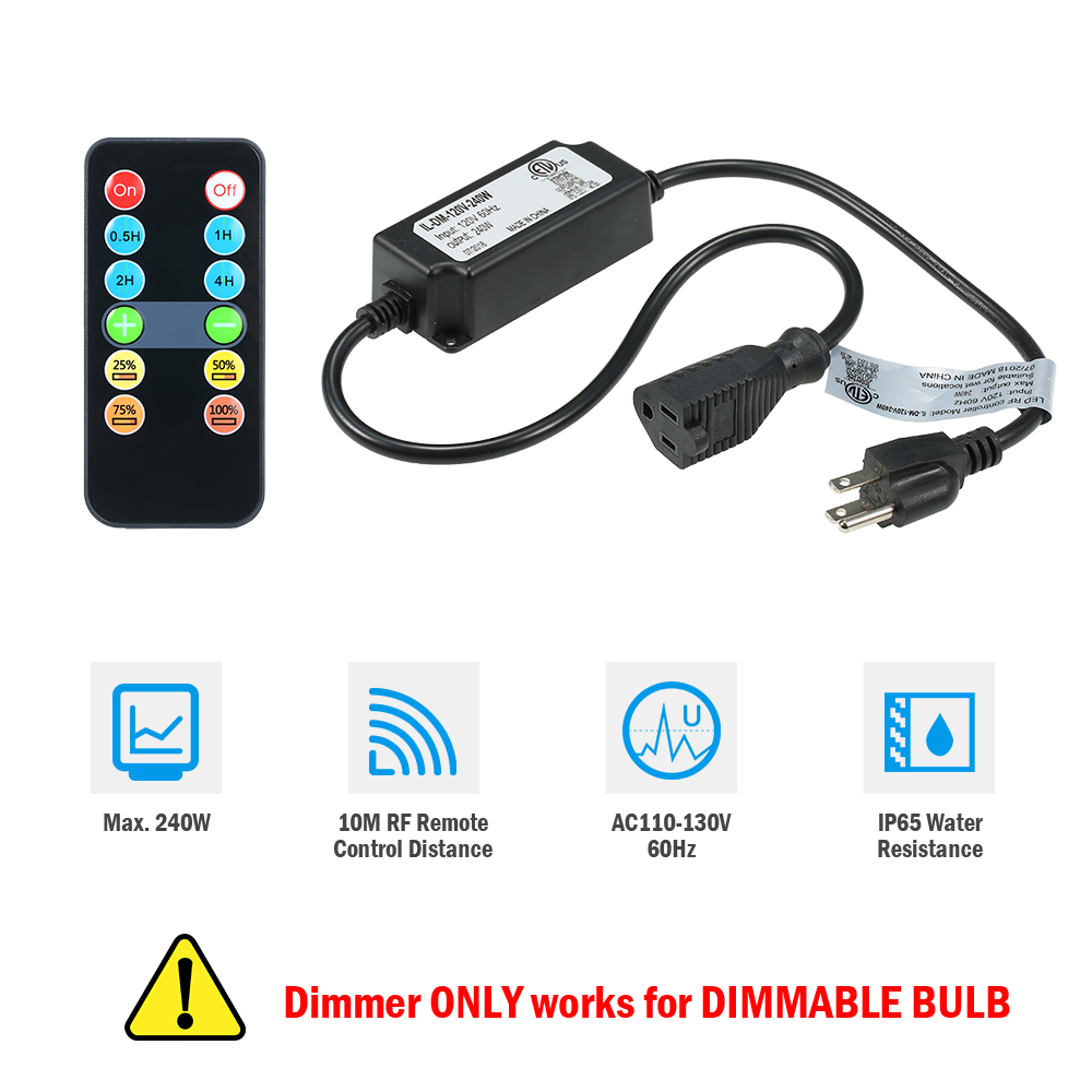 Outdoor Lighting Dimmer: Outdoor LED String Lights Dimmer Wirelss Remote Control