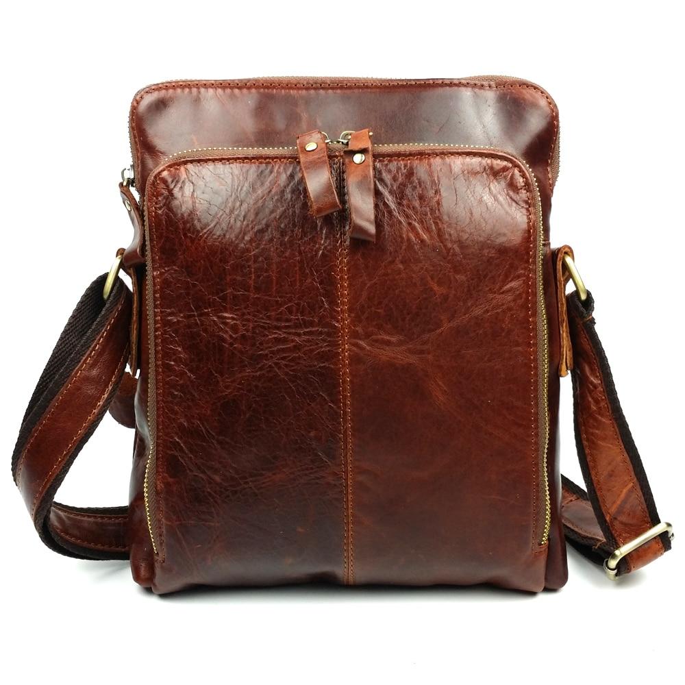 ФОТО JOYIR Genuine Leather Men bags cowhide Men's Crossbody bags small bag for male men's messenger bag handbags men gift 8674