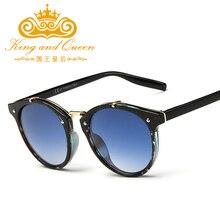 2016 New Trends Classic Women Round Sunglasses Gradient Female Famous Brand Designer Retro Vintage Sun Glasses for Men UV400