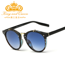 2017 New Trends Classic Women Round Sunglasses Gradient Female Famous Brand Designer Retro Vintage Sun Glasses for Men UV400