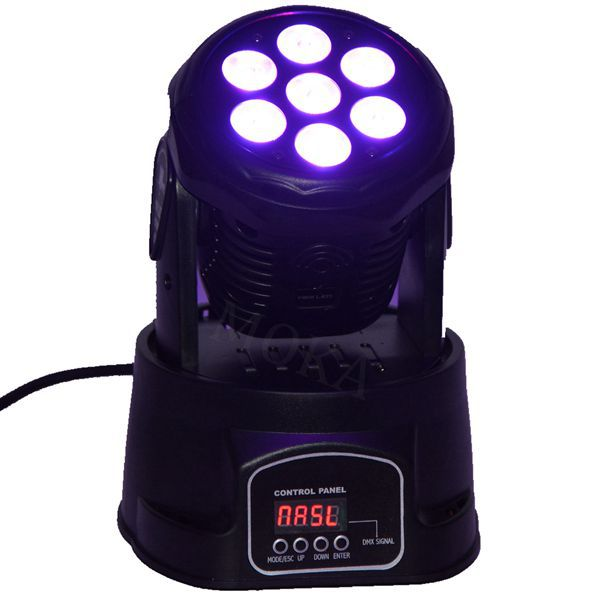 6Pcs/lot Led Moving Head Mini Wash 7x10w Rgbw Party/Disco/Dj light DMX 4/12 CH Stage Lighting Effect 6pcs lot good quality 7 12w mini rgbw led moving head light laser christmas party lights 12 months warranty