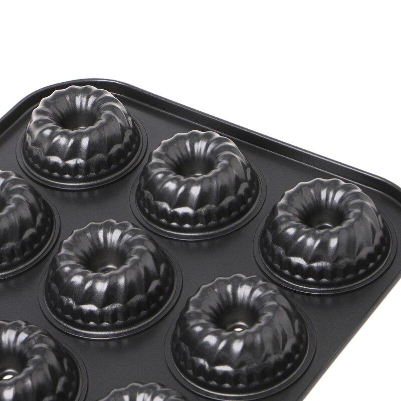 1 stück Eisen Nonstick Geriffelte Kuchen Pan Extra Dicke Bundt Nicht Stick Keks Brownie Backform Küche Zubehör #20 /17 watt