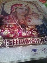 HEIßE NEUE Bild Von Strass Runde Diamant Stickerei Religion Malerei Diamant Mosaik Muster Perlen Stickerei Kit Beadwork