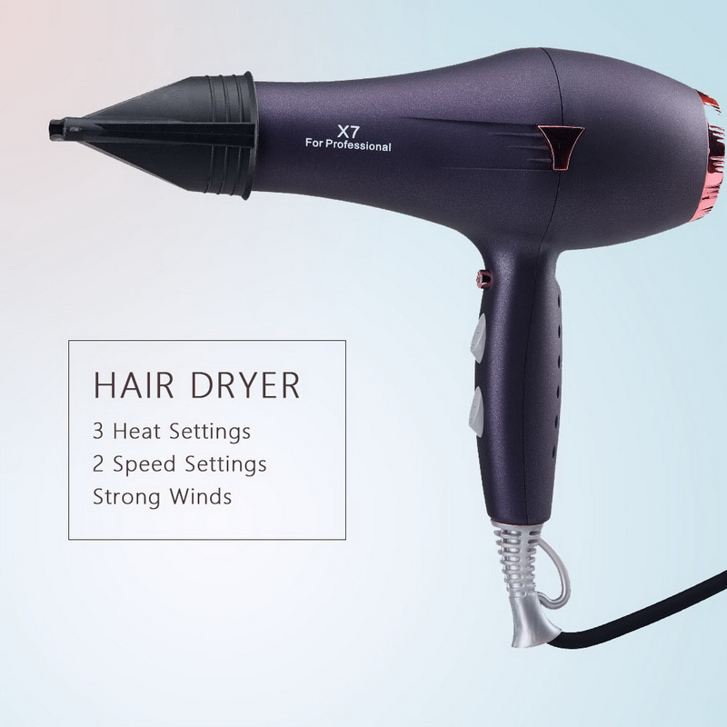 Negative Ionic Hair Blow Dryer Constant Temperature Control High Performance Hair Dryer Heat Setting Hair Dryer Strong Power in Hair Dryers from Home Appliances