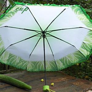 Image 4 - 크리 에이 티브 양배추 우산 양상추 접는 써니와 비가 오는 우산 안티 진드기 비치 재미 있은 야채 우산 파라솔