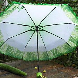 Image 4 - Sombrilla creativa de col, paraguas plegable de lechuga, paraguas soleado y lluvioso, antiácaros para playa, sombrilla de verduras divertida