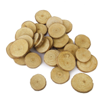 Easter 30pcs 3-4CM Wood Log Slices Discs for DIY Crafts Wedding Centerpieces