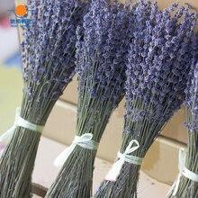 100 グラム乾燥した自然の花ブーケ乾燥した天然ラベンダーの花ブーケ & ラベンダー花の房