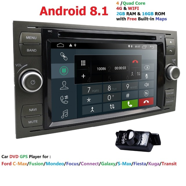 """7""""HD Android 8.1 OS Wifi 4G GPS Nav Radio Stereo Car DVD Player for Ford Focus 2004-2008 Black Gift GPS Map RearCam 2017 New BT"""