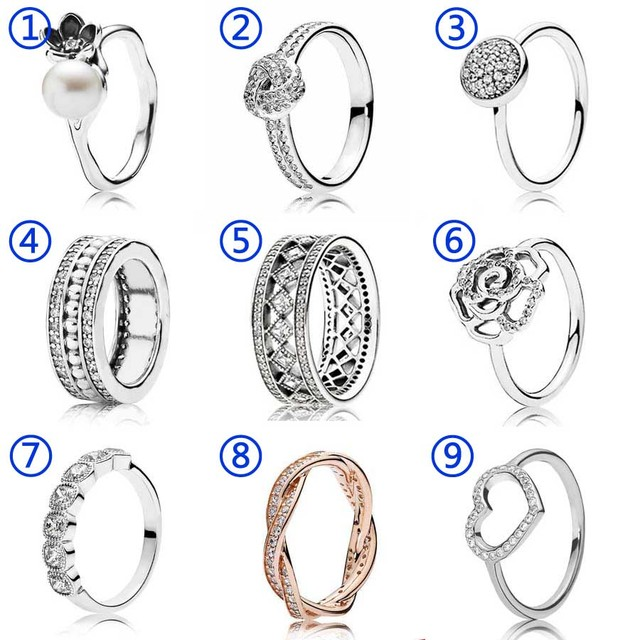 2cc4aa2e9 30% Silver Ring Vintage Fascination Dazzling Droplet Hearts With Crystal  Signature Ring 925 Sterling Silver DIY Pandora Jewelry-in Wedding Bands  from ...
