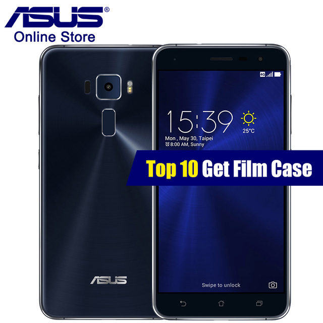 ASUS Zenfone 3 ZE552KL 4G Smartphones 4GB RAM 64GB ROM ZenUI Qualcomm Octa Core 2.0GHz GPS 16.0MP Camera 5.5 Inch  Mobile Phone