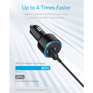 Image 3 - Anker 49.5W PowerDrive Velocità + 2 USB C Caricabatteria Da Auto, un 30W Porta PD per MacBook iPad iPhone e 19.5W Veloce di Ricarica per S9/S8 ecc
