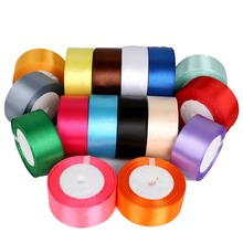 5yards/pack 1-1/2 (40mm)  Colors Solid Color Satin Ribbons Wedding Decorative Gift Box Wrapping Belt DIY Crafts