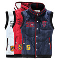 Hot sale free shipping men down vest cotton vest sleeveless jacket  waistcoat free shipping AMJ05