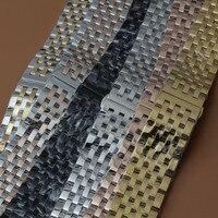 Мода 2017 г. часы ремешок 20 мм Элитный бренд золотые часы браслет мужчины подходят спортивные часы кварцевые часы время часов Чехол
