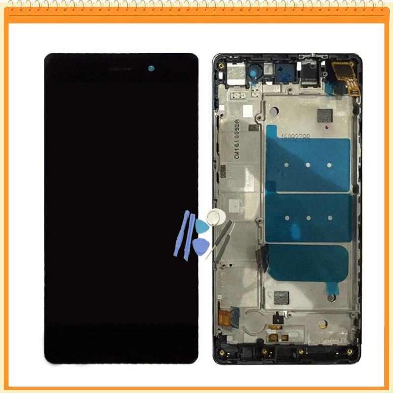 imágenes para Para Huawei P8 Lite LCD Screen Display + Digitalizador de Pantalla Táctil asamblea con Marco de Oro Blanco Negro Colores + Herramientas de Envío Gratis