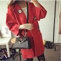 Новый 2016 Мода Осень Зима Длинный Вязаный Кардиган Женщины Тонкий Толстые Женщины Пончо Случайный Верхней Одежды C242
