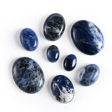 1Pc Natural Stone Sodalite Cabochon Beads Oval CAB 13X18mm 30x40mm Semi-Precious Stones Fit Handmade Jewelry Women Men Gifts(China)
