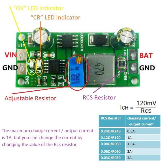 2IN1 DC-DC Buck Converter 3.7V 4.2V 7.4V 12V Lithium li-on 18650 Battery Charger