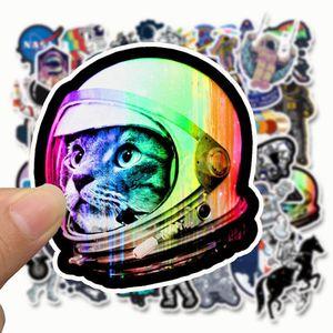 Image 3 - SLIVERYSEA 50 adet dış uzay astronot etiket bavul kaykay dizüstü bagaj buzdolabı telefon araba Styling DIY çıkartma