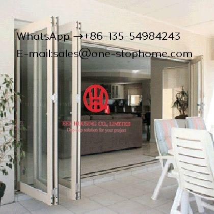 Australian Standards Soundproof Double Aluminium Folding Home Bi-fold Door,Double/Triple Glazing Tempered Glass Door