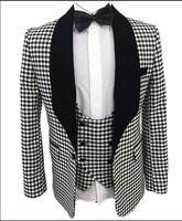 S 5XL 2018 New Men Clothing Spring and summer casual Slim Black plaid suits fashion Business formal dress singer stage costumes